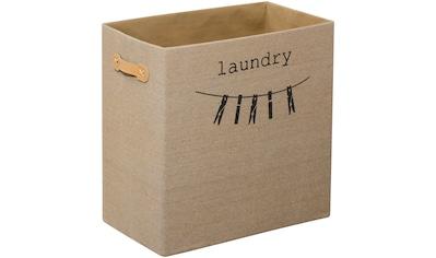 FACKELMANN Wäschebox, Beige mit Aufdruck kaufen