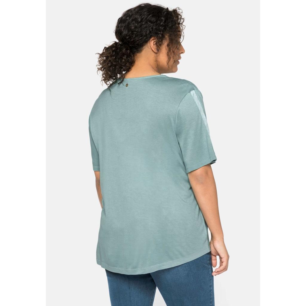 Sheego T-Shirt, in A-Linie