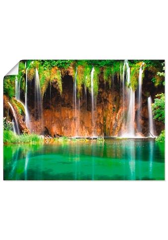 Artland Wandbild »Schöner Wasserfall im Wald«, Gewässer, (1 St.) kaufen