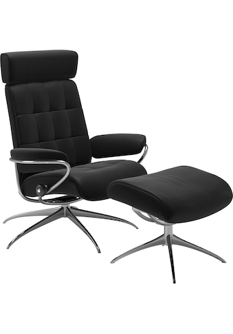 Stressless® Relaxsessel »London«, mit Hocker, Low Back mit Kopfstütze, mit Star Base,... kaufen