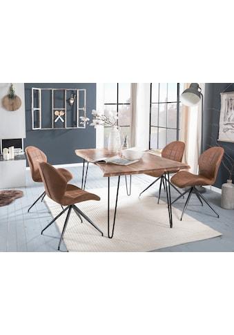 Premium collection by Home affaire Esstisch »Manhattan 2.0«, mit Baumkantenoptik und... kaufen