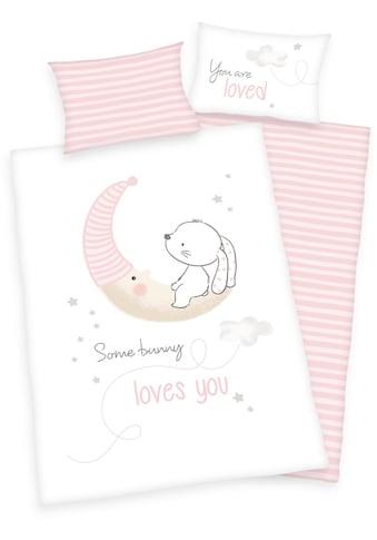 """Baby Best Babybettwäsche »Baby Best """"Little Bunny""""«, mit Mond und Hase kaufen"""