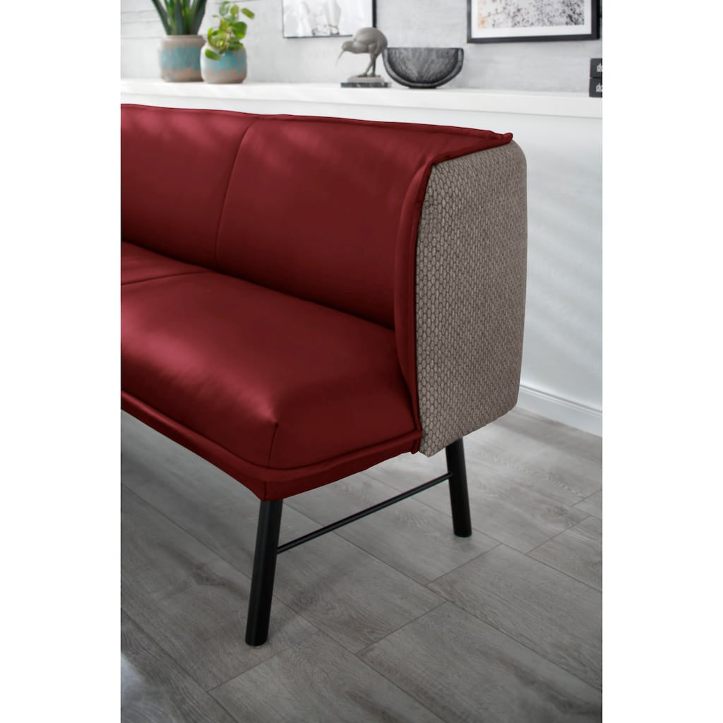 W.SCHILLIG Essbank »chloé«, 2-Sitzer Küchensofa mit dekorativer Biese, mit Absetzung im Rücken