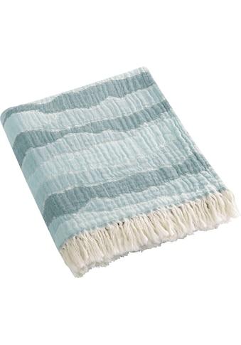 BIEDERLACK Plaid »Ocean«, mit Crinkle-Oberfläche kaufen