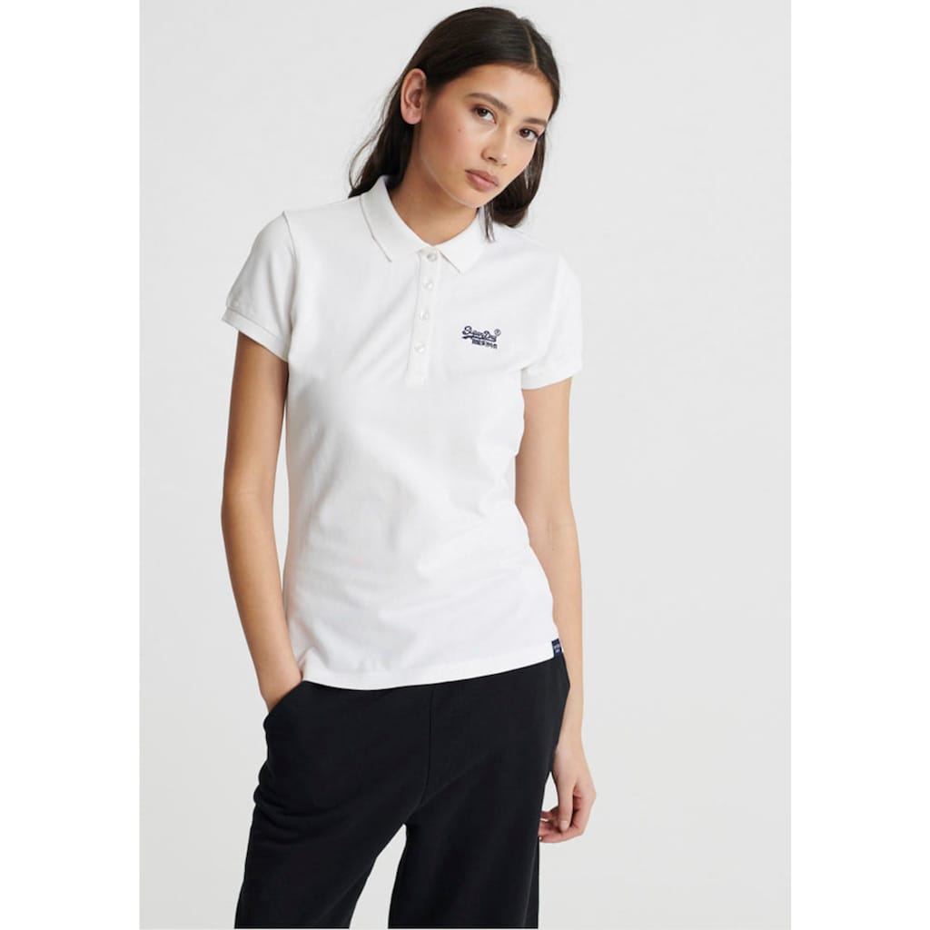 Superdry Poloshirt »SCRIPTED POLO TEE«, mit dezenter Logostickerei