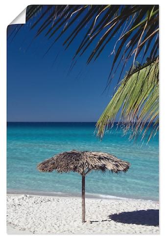 Artland Wandbild »Sonnenschirm am Strand«, Amerika, (1 St.), in vielen Größen &... kaufen