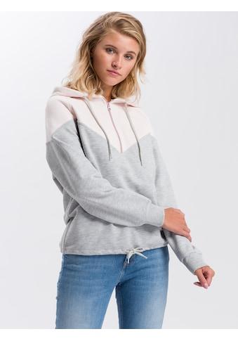 Cross Jeans® Hoodie »65228«, Legerer Hoody im Colourblocking-Stil kaufen