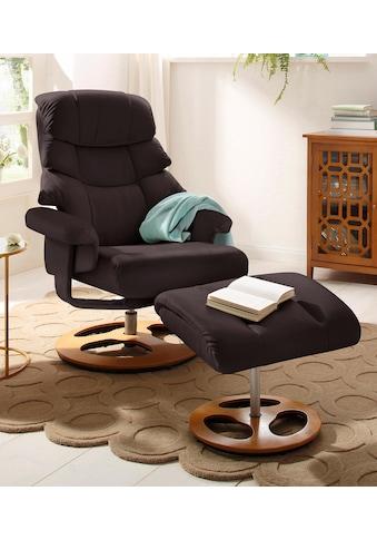 Home affaire Relaxsessel »Toulon« (2 - tlg., Bestehend aus Sessel und Hocker) kaufen