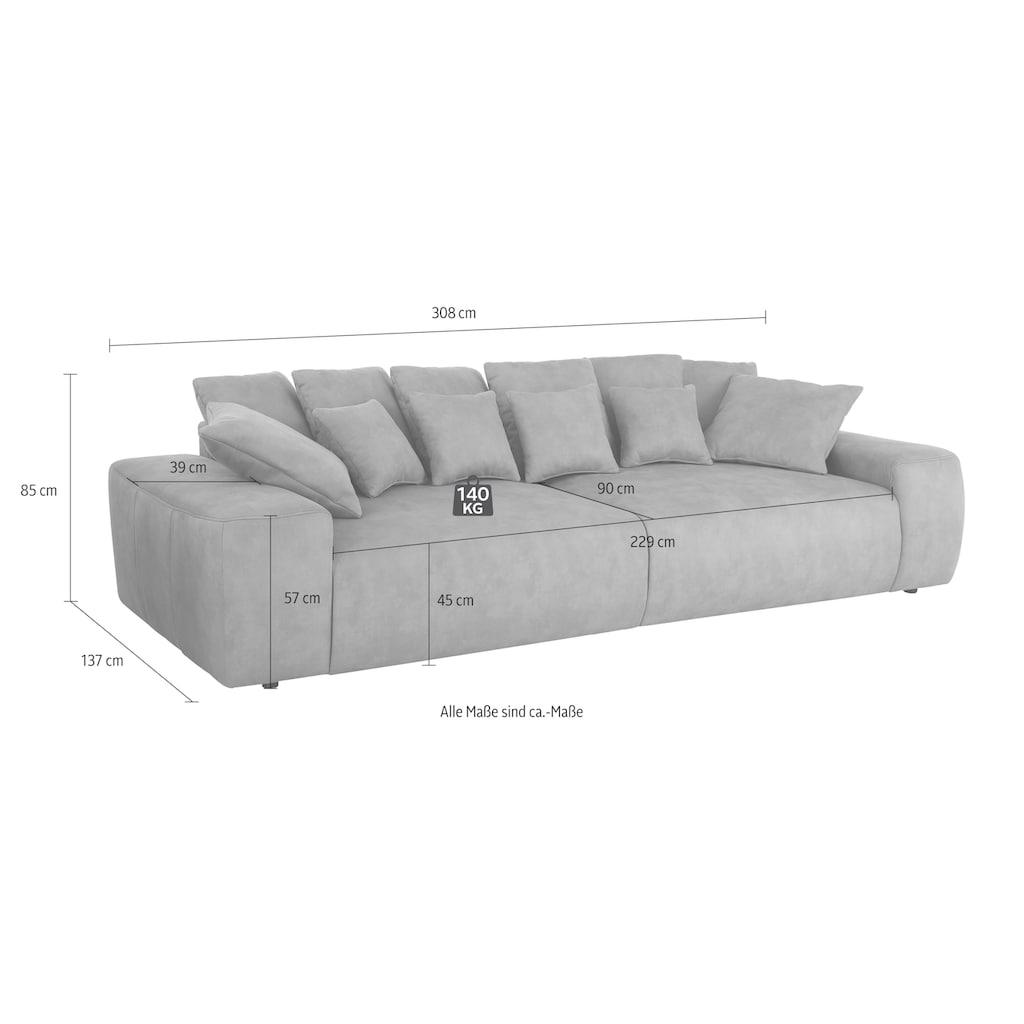 Home affaire Big-Sofa »Riveo Luxus«, mit besonders hochwertiger Polsterung für bis zu 140 kg pro Sitzfläche