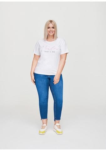 Rock Your Curves by Angelina K. Statement-T-Shirt mit Glitzer-Print kaufen