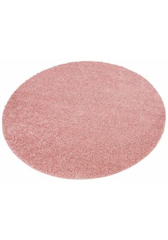 Home affaire Hochflor-Teppich »Shaggy 30«, rund, 30 mm Höhe, gewebt, Wohnzimmer kaufen