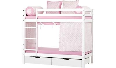 Hoppekids Etagenbett, inkl. Vorhang-Set, 2 Matratzen, 2 Rollroste und 2 Schubkästen kaufen