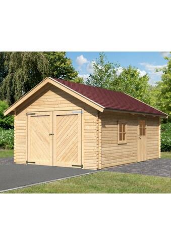 Karibu Garage »Christian«, BxT: 435x572 cm, 193 cm Einfahrtshöhe, mit Dachschindeln kaufen