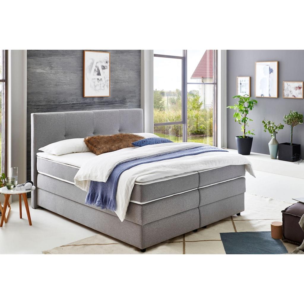 ATLANTIC home collection Boxspringbett, mit Bettkasten und Topper