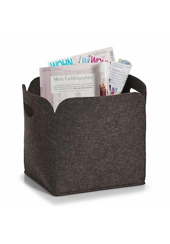Zeller Present Aufbewahrungsbox, hoch, Filz, 30x24x30 kaufen