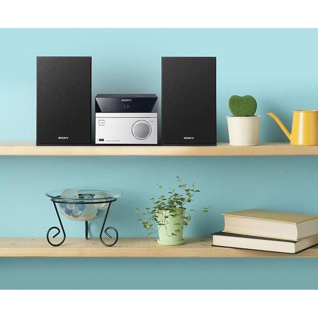 Sony Microanlage »CMT-SBT20B«, (Bluetooth-NFC FM-Tuner mit RDS-Digitalradio (DAB+) ), MEGA BASS Funktion
