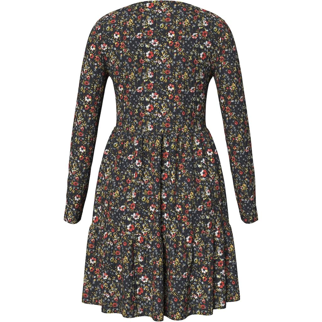 AJC Volantkleid, mit schönem Blumendruck in dickerer Qualität