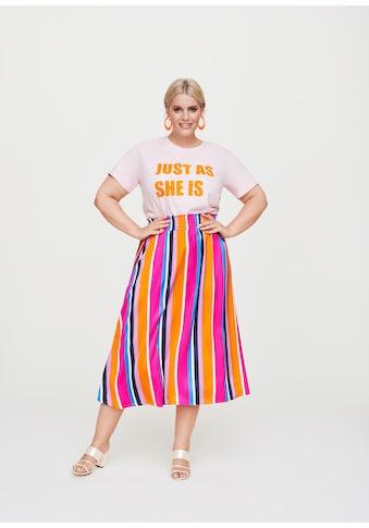 Rock Your Curves by Angelina K. Statement-T-Shirt mit Flocksamt-Print kaufen
