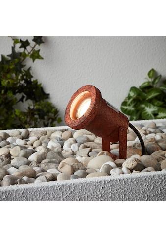 Brilliant Leuchten Außen-Wandleuchte, GU10, Janko Außenerdspieß 32cm rostfarbend kaufen