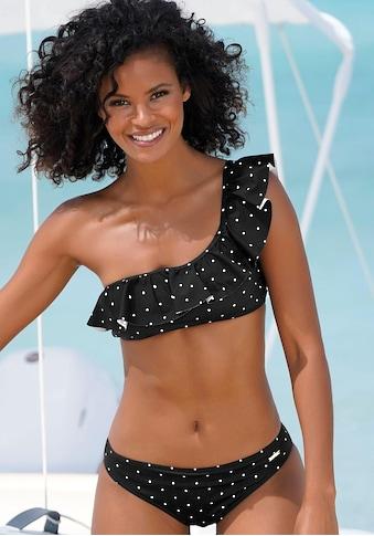 LASCANA Bustier-Bikini-Top »Sparkel«, mit Rüsche und in One-Shoulder-Form kaufen