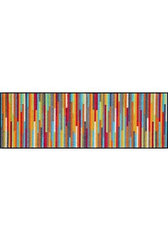 wash+dry by Kleen-Tex Läufer »Mikado Stripes«, rechteckig, 7 mm Höhe, In- und Outdoor... kaufen