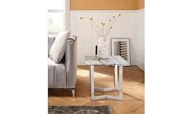 Leonique Couchtisch »Tinto«, mit einer Marmoroptik Tischplatte, in quadratischer oder... kaufen