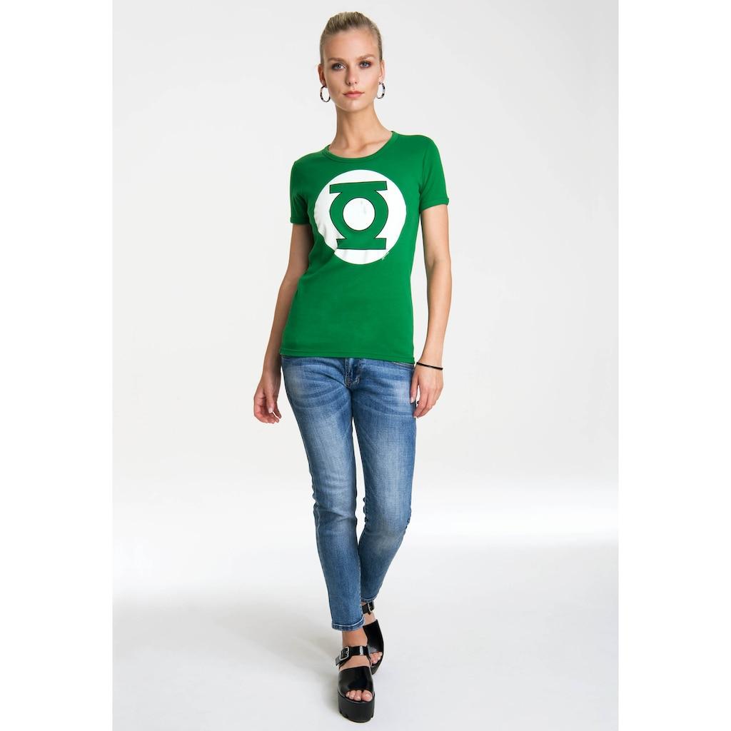 LOGOSHIRT T-Shirt »Green Lantern Logo«, mit lizenziertem Originaldesign