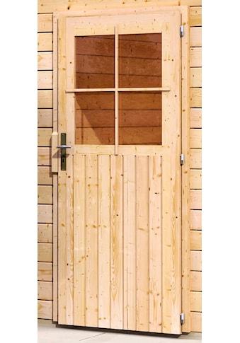 Karibu Garage »Florian«, BxT: 417x571 cm, 193 cm Einfahrtshöhe, mit Dachfolie kaufen