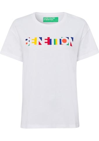 United Colors of Benetton T-Shirt, mit modischem Pride-Label-Print in... kaufen