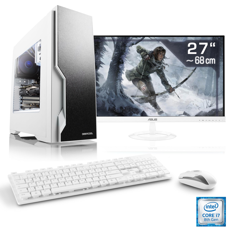 csl gaming pc set core i7 8700k gtx 1070 16gb ddr4. Black Bedroom Furniture Sets. Home Design Ideas