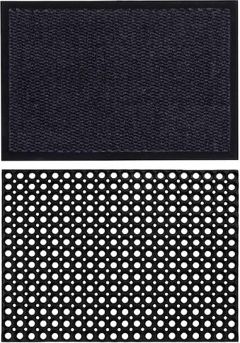 Andiamo Fußmatte »Easy + Gummi Ringmatte, 2er Set«, rechteckig, 5 mm Höhe,... kaufen