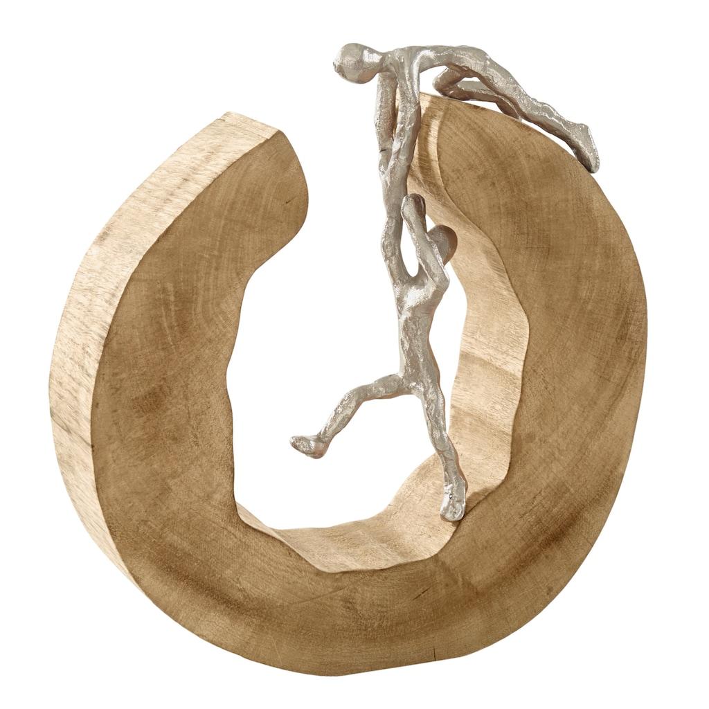 Deko-Objekt mit Aluminium-Figuren