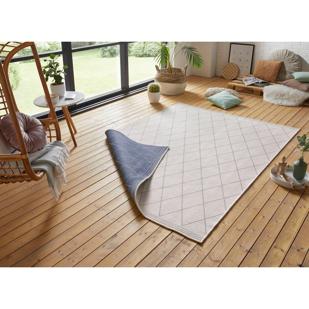 freundin Home Collection Teppich »Daisy«, rechteckig, 5 mm Höhe, In- und Outdoor geeignet, Wendeteppich, Wohnzimmer