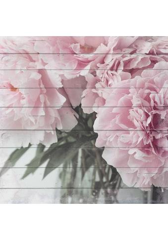 Home affaire Holzbild »Blumenstrauß« kaufen