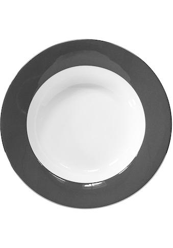 Fink Pastateller »Moments«, (Set, 4 St.), Ø 30 cm, Porzellan mit Platinumrand kaufen