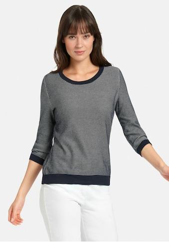 Peter Hahn 3/4 Arm-Pullover »Rundhals-Pullover aus SUPIMA®-Baumwolle«, mit Rippbündchen kaufen