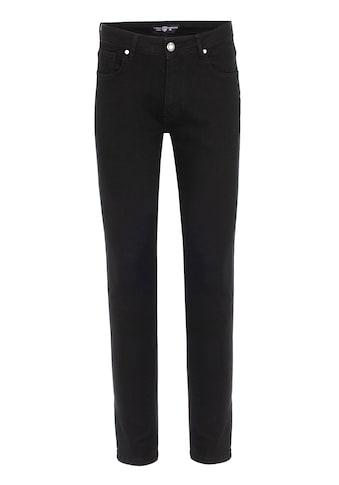 Jimmy Sanders Slim-fit-Jeans, mit unifarbenem Stoff kaufen