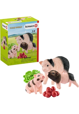 """Schleich® Spielfigur """"Farm World, Mini - Schwein Mutter und Ferkel (42422)"""", (Set) kaufen"""