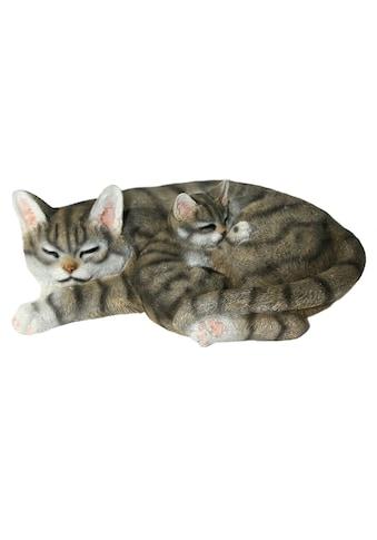Home affaire Tierfigur »Katze mit jungen liegend« kaufen