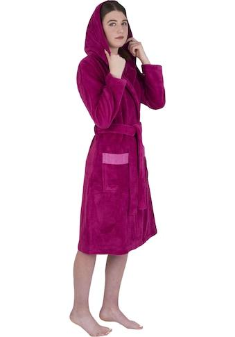 Wewo fashion Damenbademantel »4110«, mit weicher Kapuze kaufen