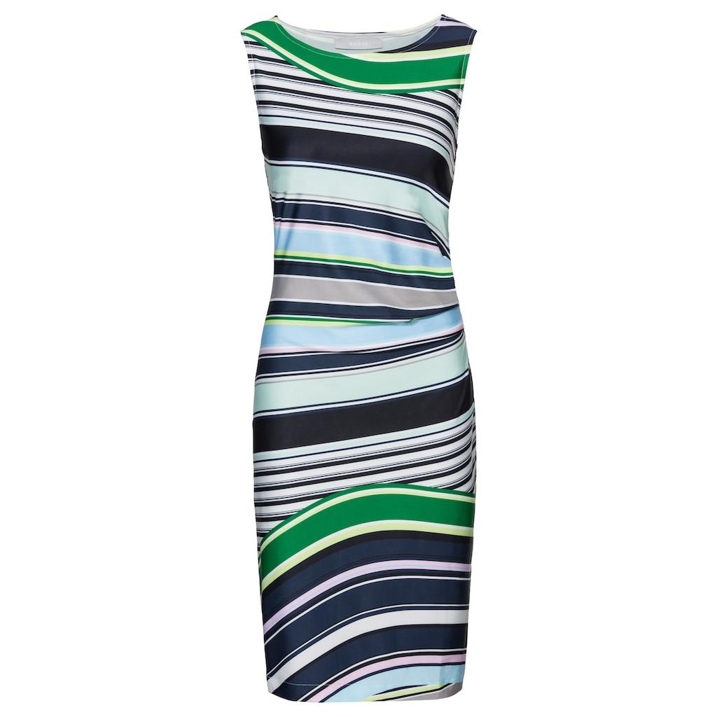 bianca Sommerkleid »DILIANE«, im Streifenmix mit cooler seitlicher Raffung
