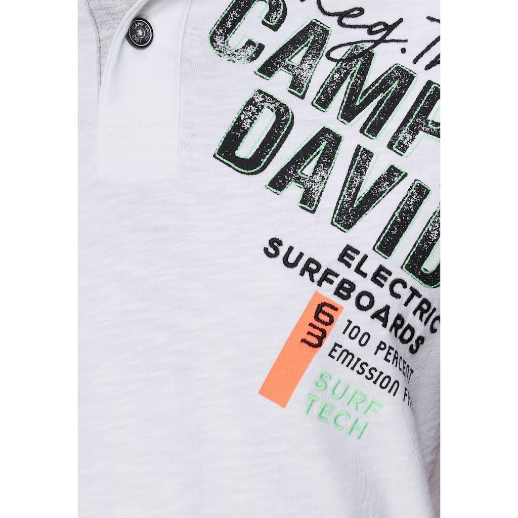 CAMP DAVID Poloshirt, mit Logoprint