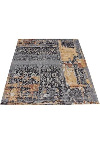 DELAVITA Teppich »Cara«, rechteckig, 8 mm Höhe, Vintage Design, Wohnzimmer kaufen