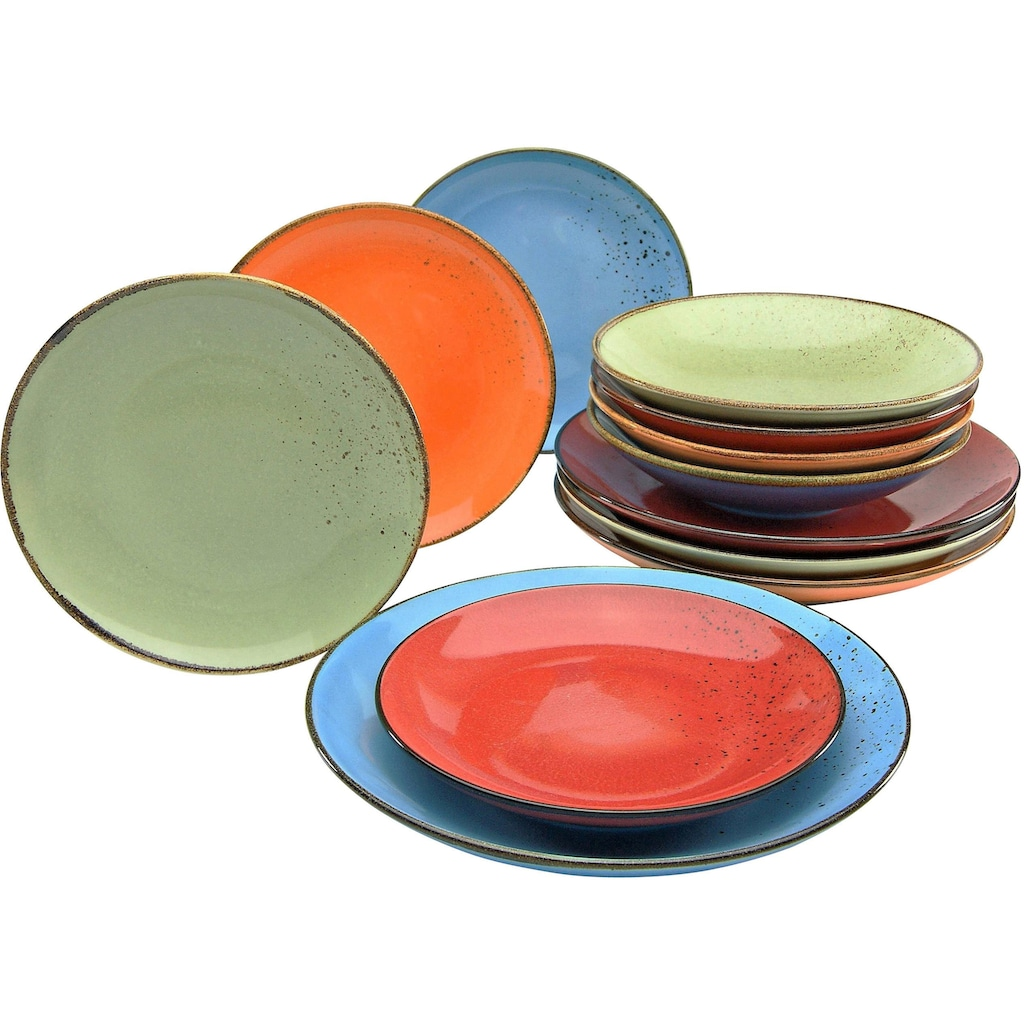 CreaTable Tafelservice »NATURE COLLECTION Mediterran«, (Set, 12 tlg.)