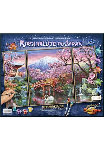 """Schipper Malen nach Zahlen """"Meisterklasse Triptychon, Kirschblüte in Japan"""" kaufen"""