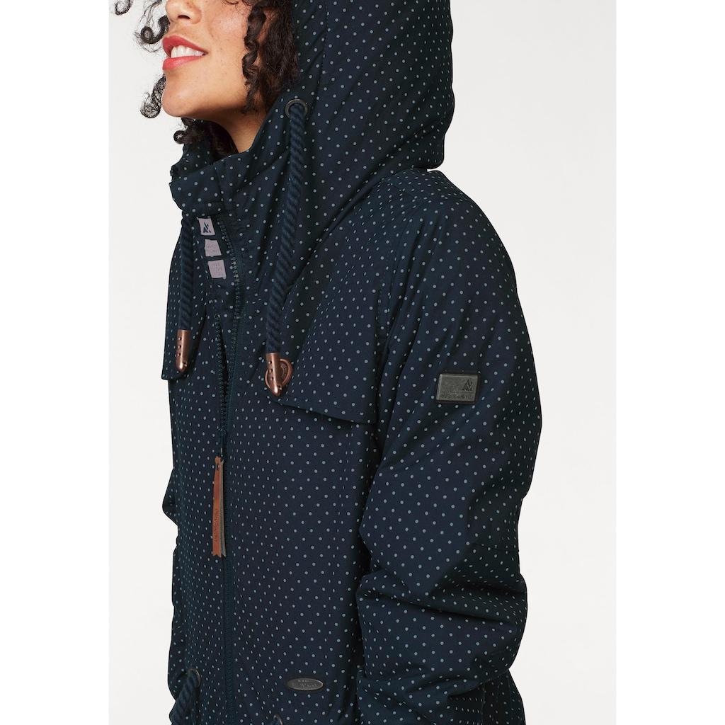 Alife & Kickin Outdoorjacke »CharlotteAK A«, modische Lieblings-Winterjacke mit Kapuze und Pünktchen-Print