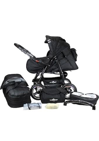 bergsteiger Kombi-Kinderwagen »Rio, black edition, 3in1«, mit Lufträdern; Made in... kaufen