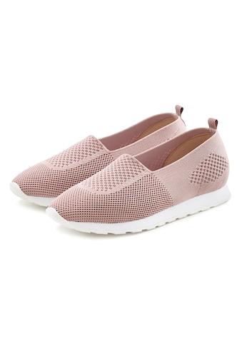 LASCANA Slip-On Sneaker, aus Textil kaufen
