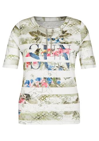 Rabe T-Shirt, mit abstraktem Muster und Rundhalsausschnitt kaufen