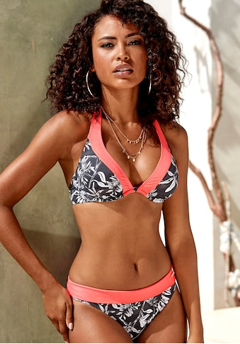 Sunseeker Bügel-Bikini-Top »Mono«, mit kontrastfarbenem Einsatz kaufen